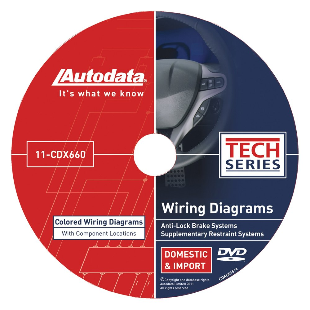 Autodata® 11-CDX660 - 2011 SRS and ABS Wiring Diagrams on DVD on