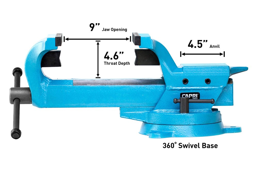 Capri Tools Cp10517 Ultimate Grip Forged Steel Bench Vise