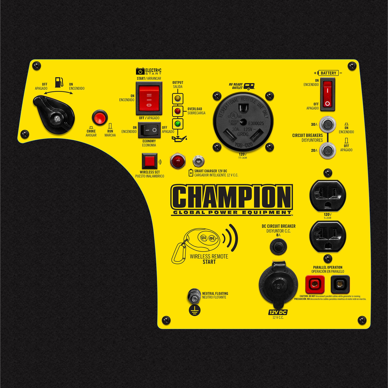 Champion Fulfillment® 100261 - 3 1kW Gasoline Electric/Recoil/Remote Start  Portable Inverter Generator (EPA Compliant)