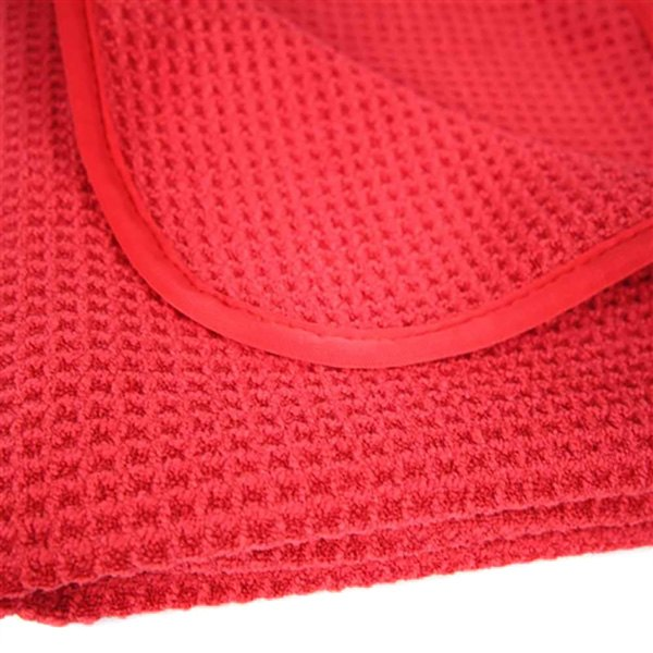 """TWO PACK Chemical Guys MIC/_707/_1 Glass /& Window Waffle Weave Towel Red 24/"""" x 16/"""""""