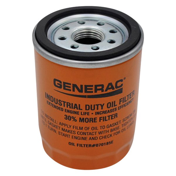 070185E 90mm High Capacity 30/% More Filter Oil Filter 90 Logo ORNG-CAN Generac