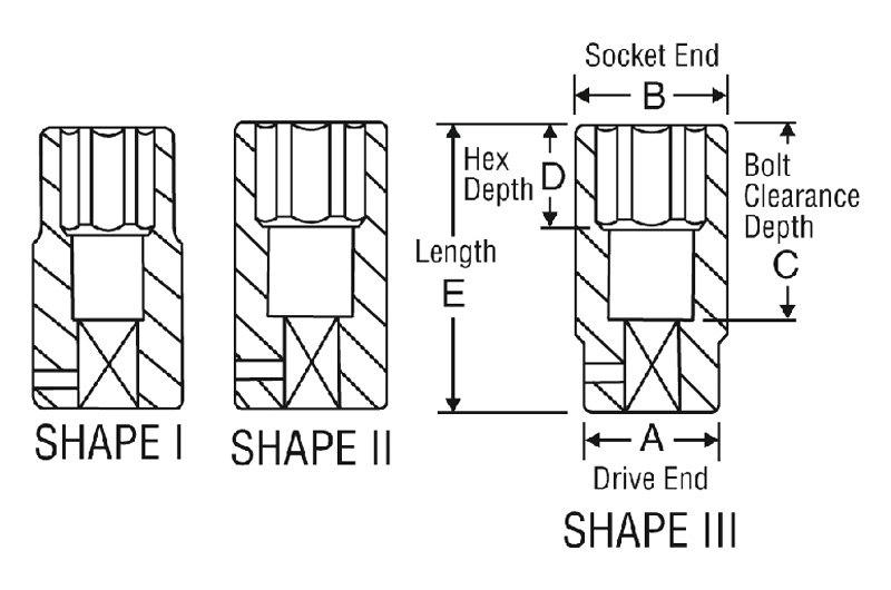 1//2 Drive x 19mm Extra-Deep Socket Grey Pneumatic 2019XMD