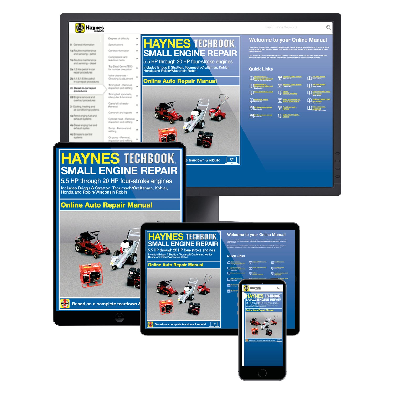 Haynes Manuals® - Small Engine Repair 5.5 HP through 20 HP Techbook