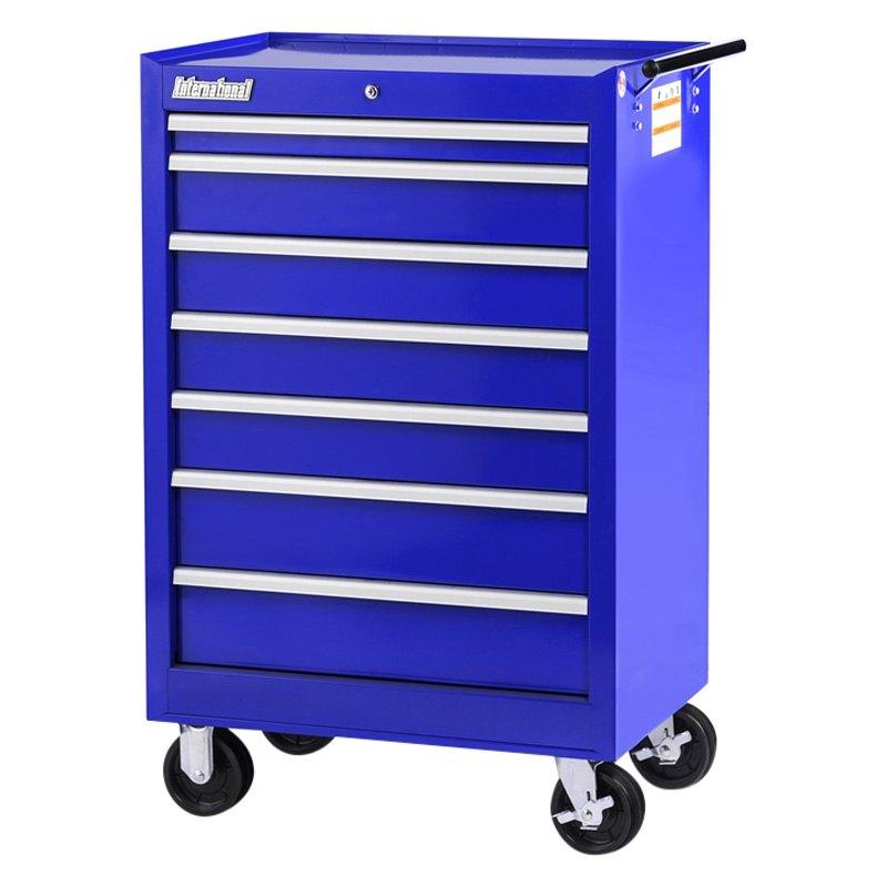 International Tool Boxes® VRB-2742BU - Tech Blue Rolling Tool Cabinet (27