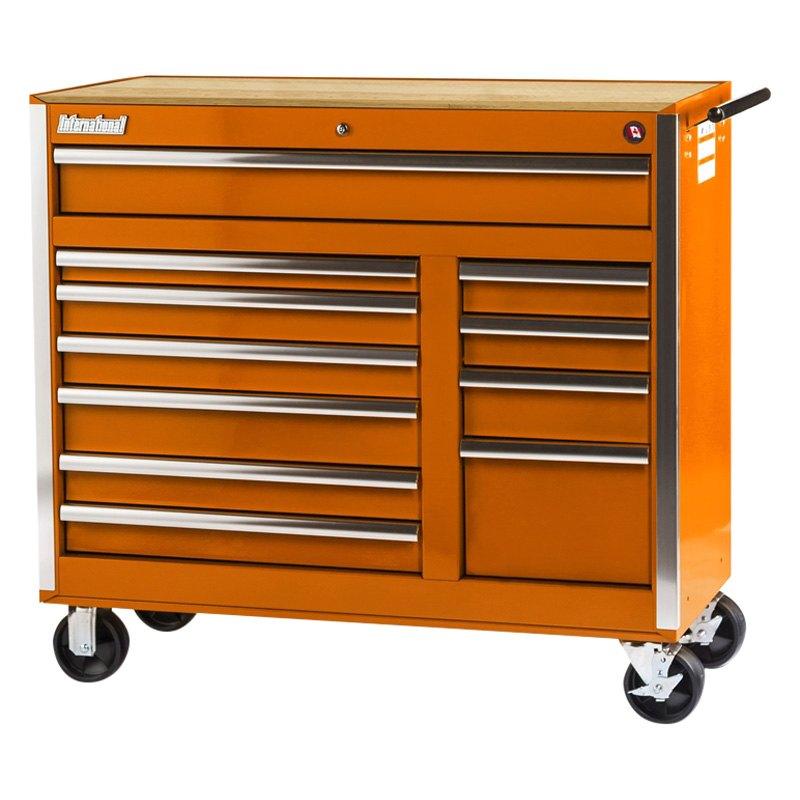 International Tool Boxes Vrb 4211wtor Tech Orange Wood Top