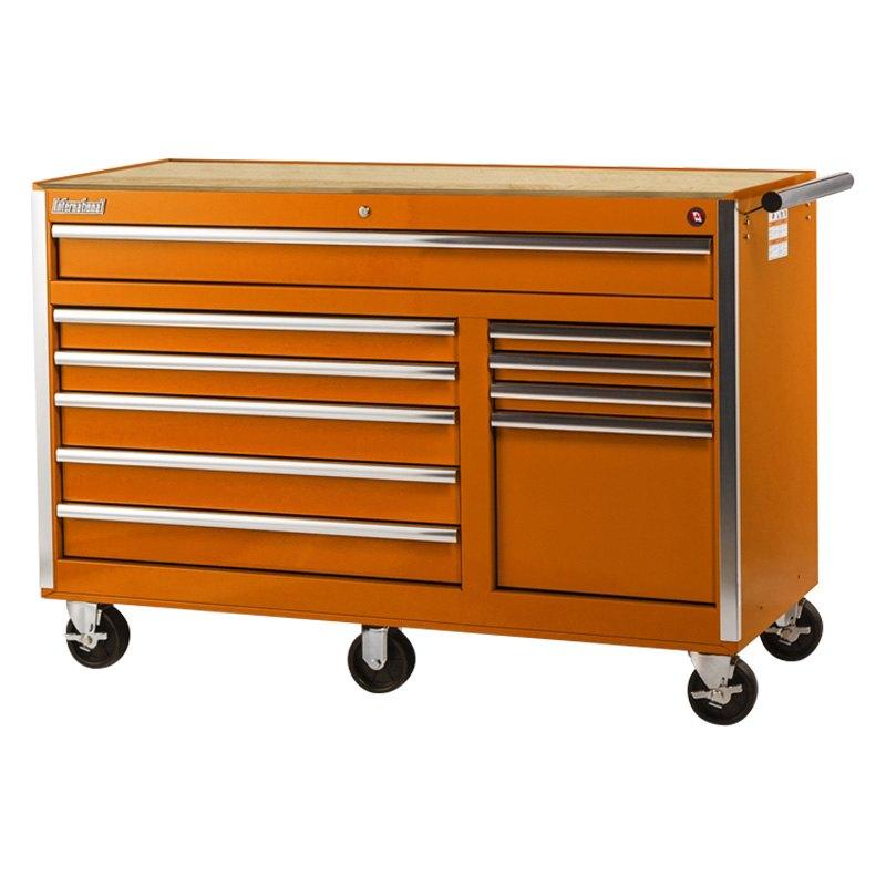 International Tool Boxes Vrb 5610wtor Tech Orange Wood Top