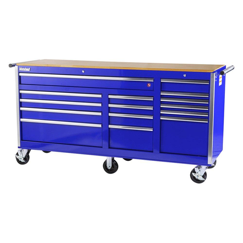 International Tool Boxes Vrb 7515wtbu Tech Blue Wood Top Rolling