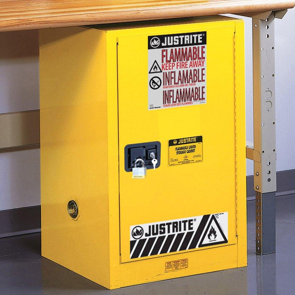 Justrite® 891220 - Sure-Grip™ EX 12 gal. Yellow Compac ...