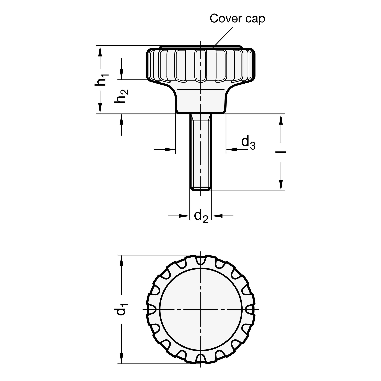 Stainless Steel Winco 10N60P48//BN GN606-NI Socket Head Cap Screw with Flat Ball End M10 x 60 mm Thread Length J.W