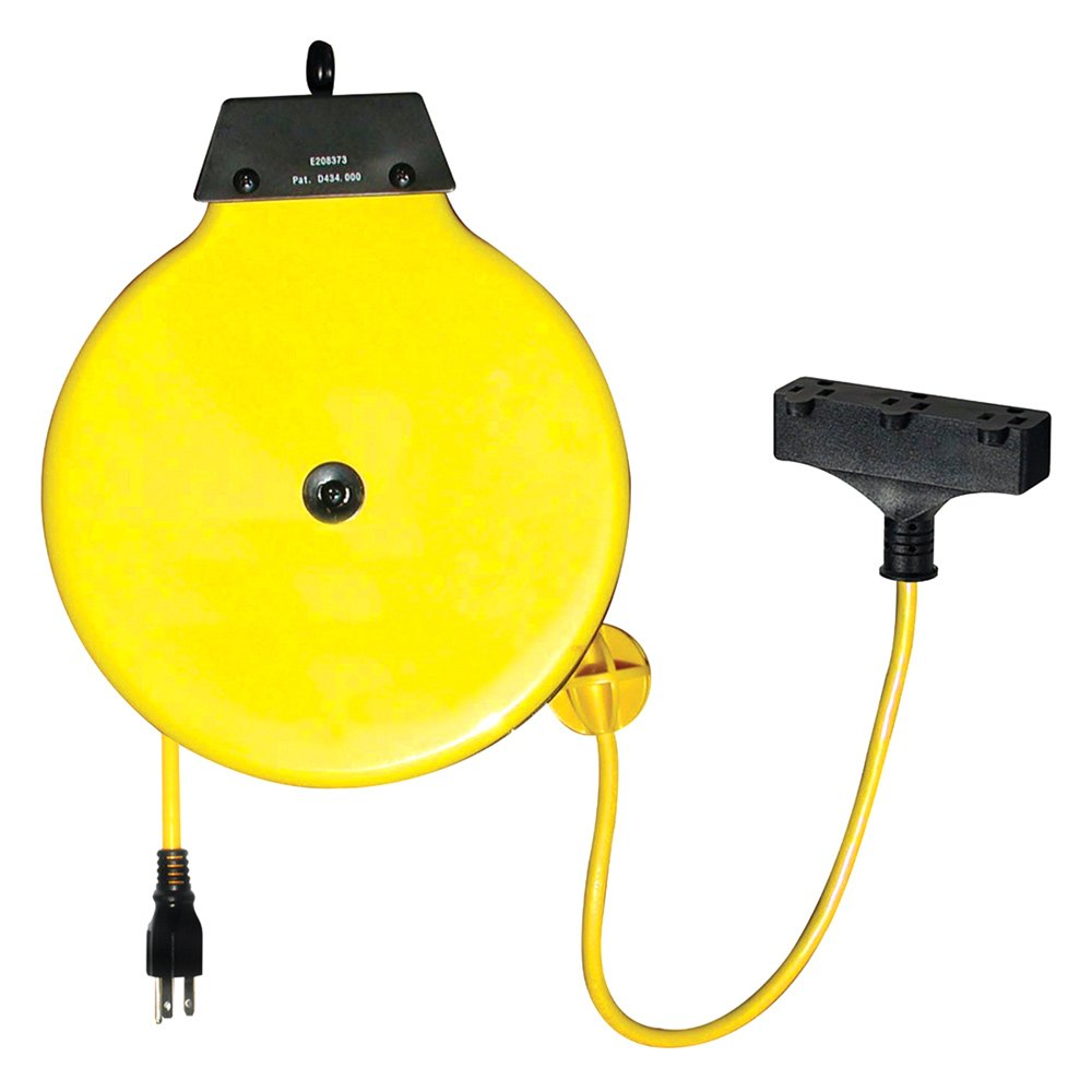 Retractable Extension Cord Reel >> K Tool International 73340 Retractable Extension Cord Reel With