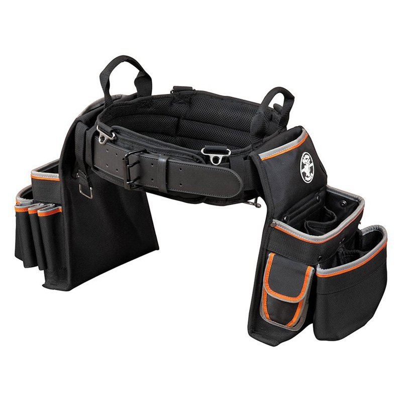 Klein Tools® 55428 - Tradesman Pro™ Large Electrician's Tool Belt with  Pouches