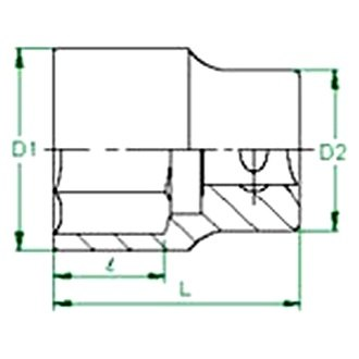 KT Pro Tools C1420S38 1//2 Drive 12-Point Socket