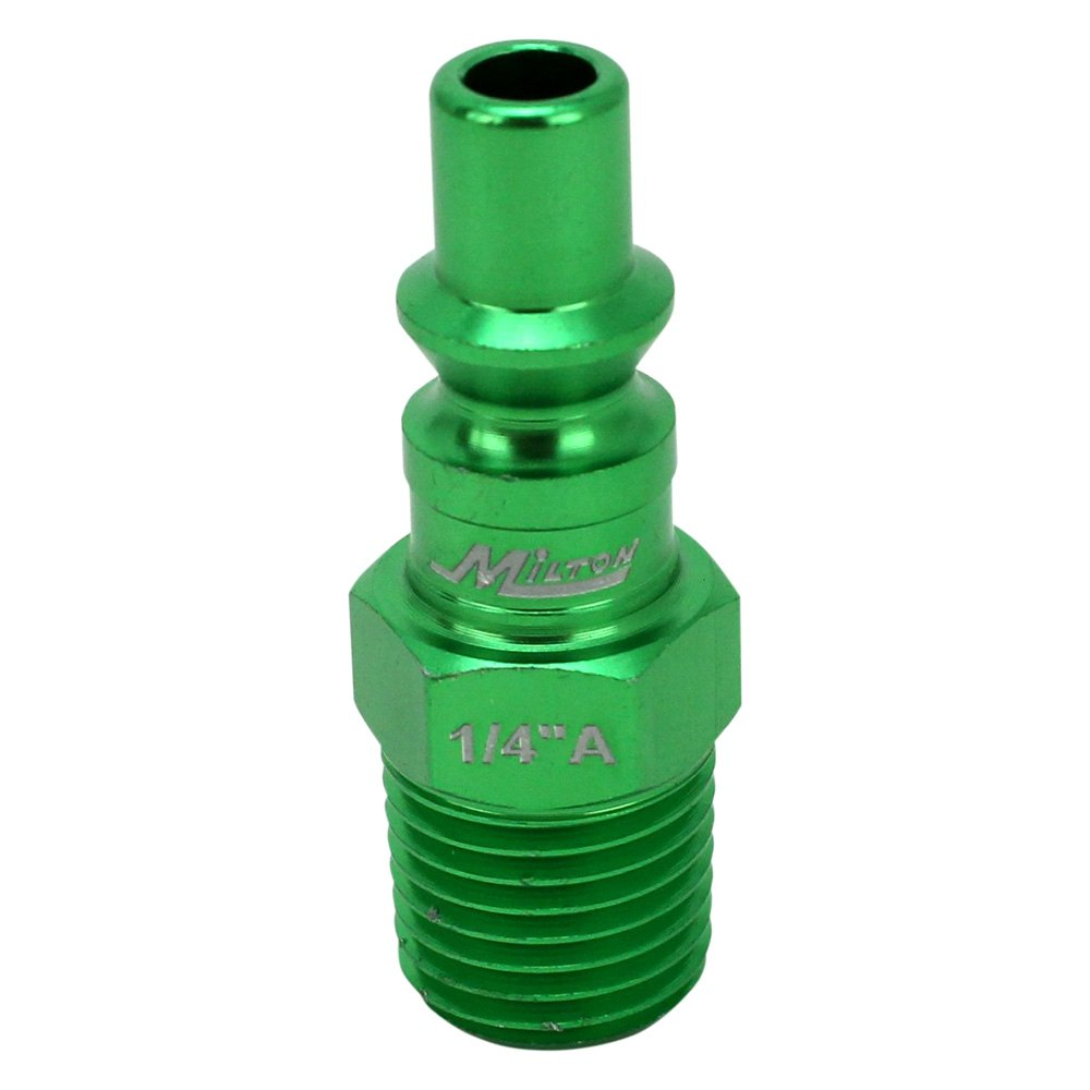 "GREEN 1//4/"" NPT Milton COLOR FIT S-314AKIT 14 PC A-Style Coupler /& Plug set"