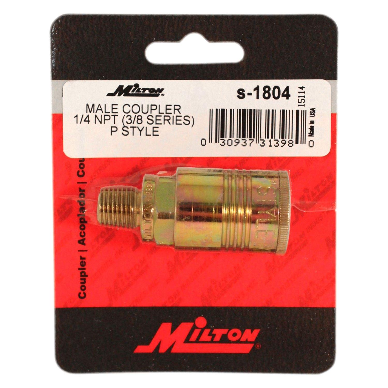 """MILTON S-1804 P Style Coupler,1//4/"""" MNPT"""