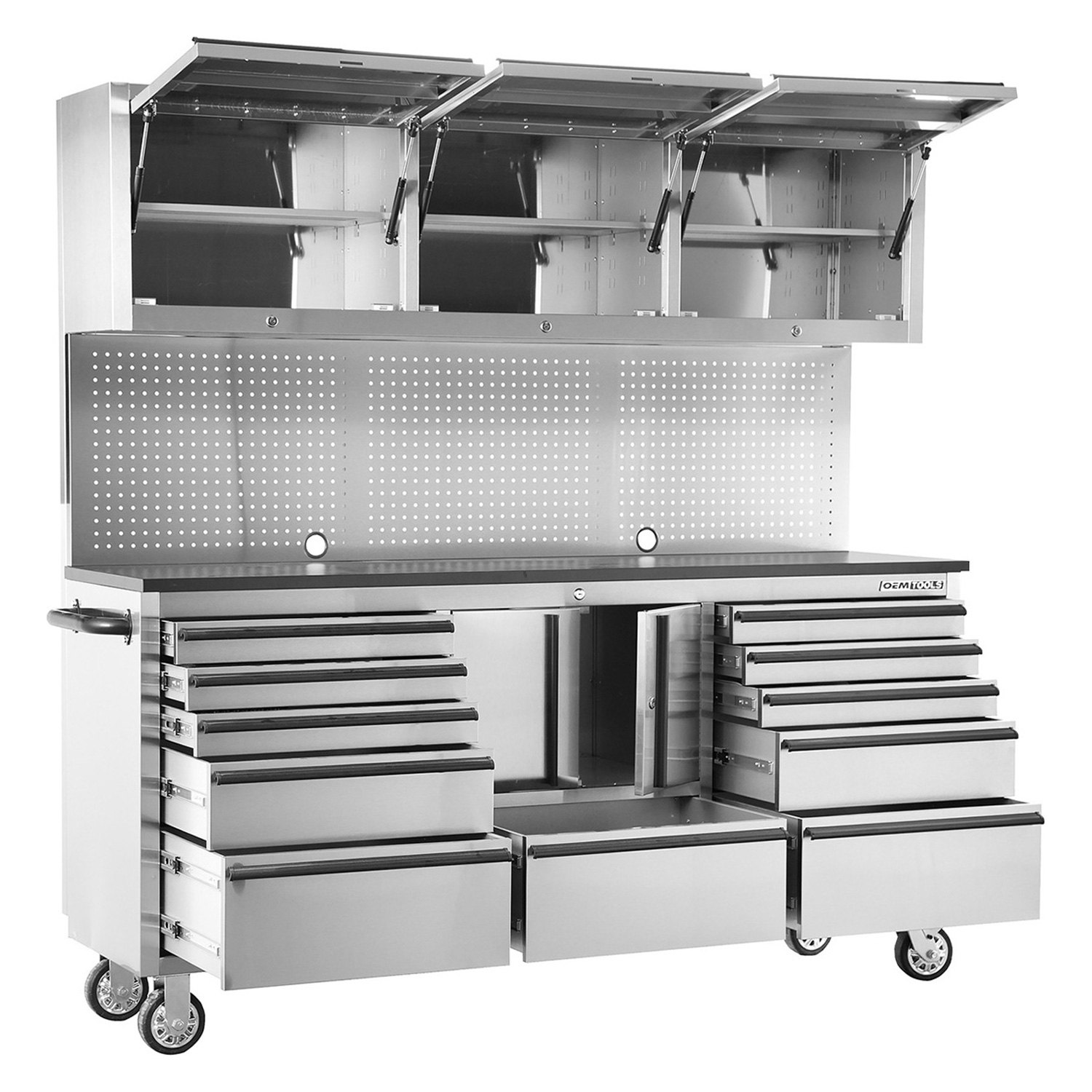 Stainless Steel Rolling Tool Cabinet