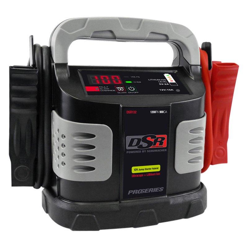 Schumacher® DSR132 - Ultracapacitor™ 12V 1200 Peak Amps Portable Hybrid  Battery Jump Starter