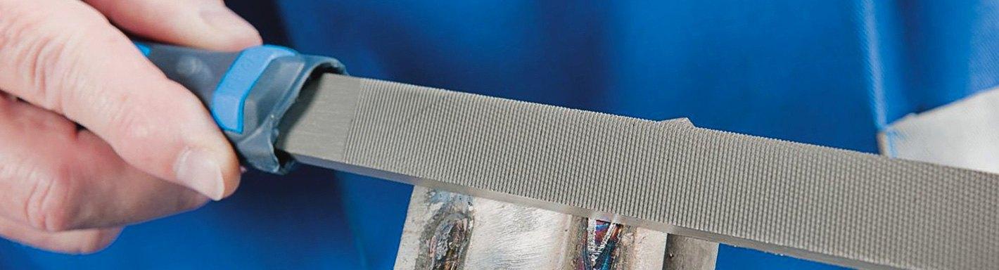 American Pattern Nicholson Hand File 8 Length Angled Curved Cut Rectangular