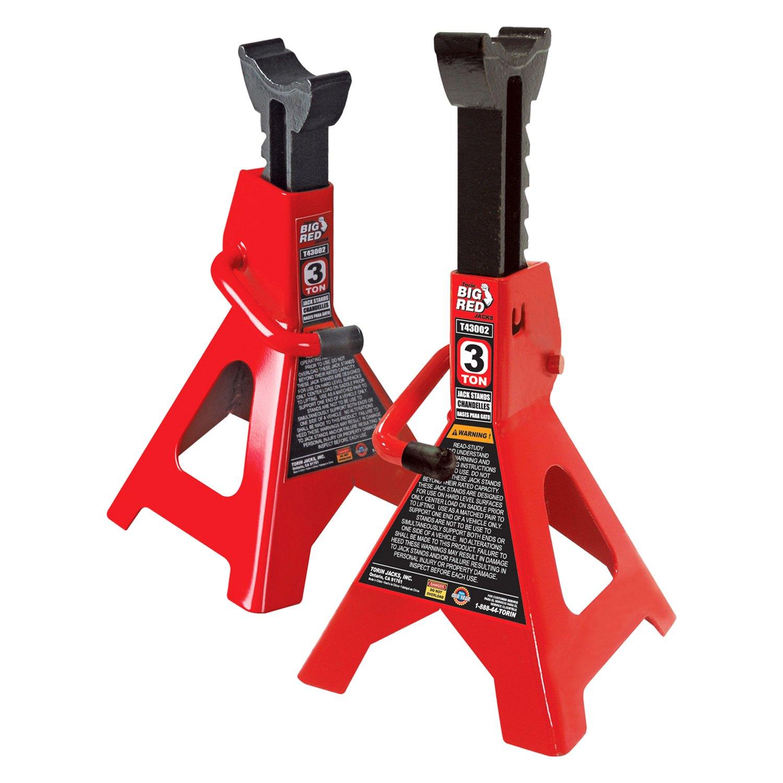 Torin 174 T43002 Big Red 3 Ton Jack Stands Toolsid Com