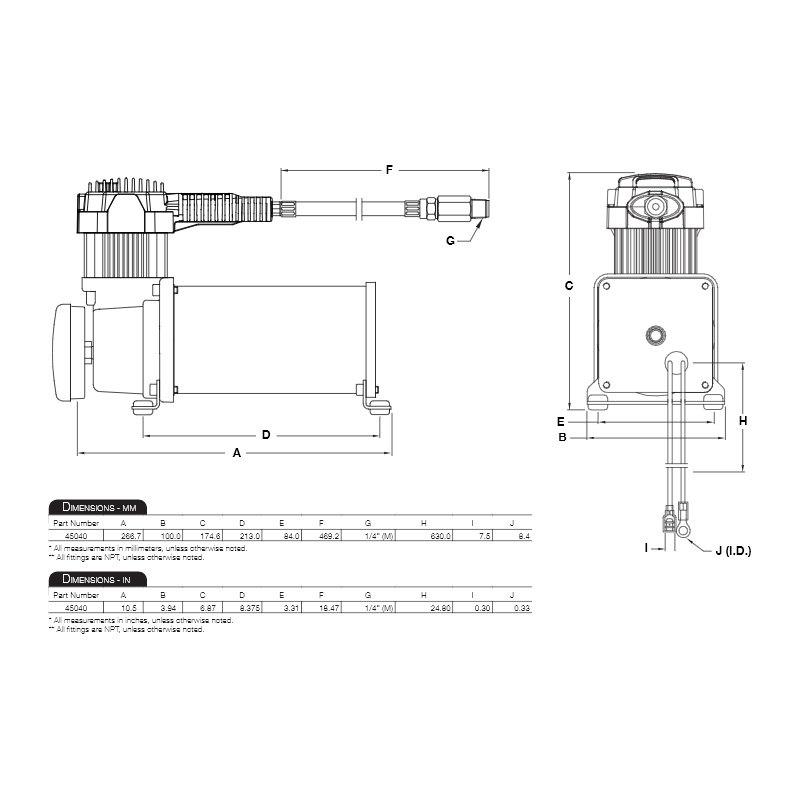 Viair® 45040 - 400 Series Air Compressor Kit on